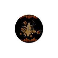 Hawaiian, Tropical Design With Surfboard Golf Ball Marker by FantasyWorld7