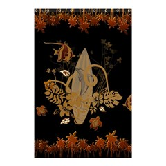 Hawaiian, Tropical Design With Surfboard Shower Curtain 48  X 72  (small)  by FantasyWorld7