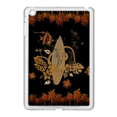 Hawaiian, Tropical Design With Surfboard Apple Ipad Mini Case (white) by FantasyWorld7