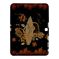 Hawaiian, Tropical Design With Surfboard Samsung Galaxy Tab 4 (10 1 ) Hardshell Case  by FantasyWorld7