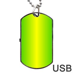Pattern Dog Tag Usb Flash (one Side) by gasi