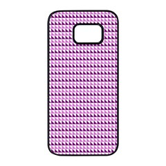 Pattern Samsung Galaxy S7 Edge Black Seamless Case by gasi