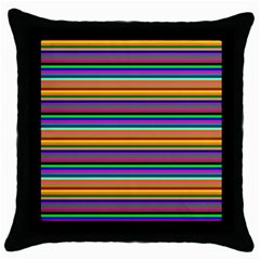 Pattern Throw Pillow Case (black) by gasi