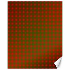 Classic Christmas Red And Green Houndstooth Check Pattern Canvas 11  X 14   by PodArtist