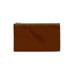 Classic Christmas Red And Green Houndstooth Check Pattern Cosmetic Bag (small)  by PodArtist