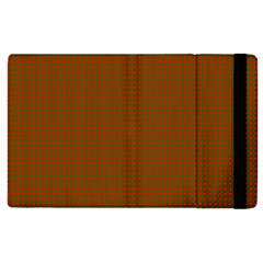 Classic Christmas Red And Green Houndstooth Check Pattern Apple Ipad 2 Flip Case by PodArtist