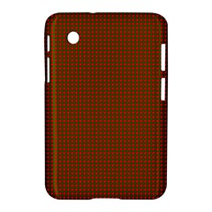 Classic Christmas Red And Green Houndstooth Check Pattern Samsung Galaxy Tab 2 (7 ) P3100 Hardshell Case  by PodArtist
