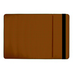 Classic Christmas Red And Green Houndstooth Check Pattern Samsung Galaxy Tab Pro 10 1  Flip Case by PodArtist