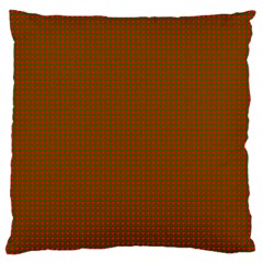 Classic Christmas Red And Green Houndstooth Check Pattern Standard Flano Cushion Case (two Sides) by PodArtist