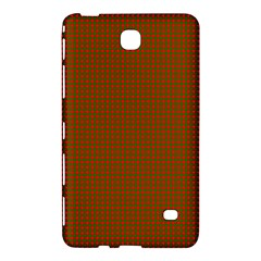 Classic Christmas Red And Green Houndstooth Check Pattern Samsung Galaxy Tab 4 (8 ) Hardshell Case  by PodArtist