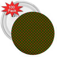 Grey And White Carbon Fiber 3  Buttons (100 Pack)  by PodArtist
