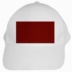 Royal Stuart Tartan White Cap by PodArtist
