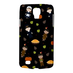 Pilgrims And Indians Pattern   Thanksgiving Galaxy S4 Active