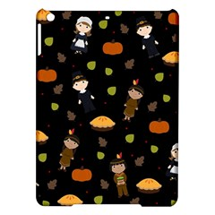 Pilgrims And Indians Pattern   Thanksgiving Ipad Air Hardshell Cases by Valentinaart
