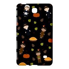 Pilgrims And Indians Pattern   Thanksgiving Samsung Galaxy Tab 4 (7 ) Hardshell Case  by Valentinaart