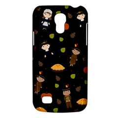 Pilgrims And Indians Pattern   Thanksgiving Galaxy S4 Mini by Valentinaart