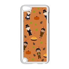 Pilgrims And Indians Pattern   Thanksgiving Apple Ipod Touch 5 Case (white) by Valentinaart