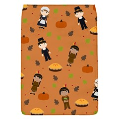 Pilgrims And Indians Pattern   Thanksgiving Flap Covers (s)  by Valentinaart