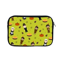 Pilgrims And Indians Pattern   Thanksgiving Apple Ipad Mini Zipper Cases by Valentinaart
