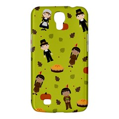 Pilgrims And Indians Pattern   Thanksgiving Samsung Galaxy Mega 6 3  I9200 Hardshell Case