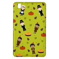 Pilgrims And Indians Pattern   Thanksgiving Samsung Galaxy Tab Pro 8 4 Hardshell Case by Valentinaart