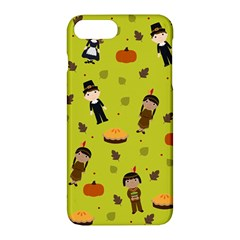 Pilgrims And Indians Pattern   Thanksgiving Apple Iphone 7 Plus Hardshell Case