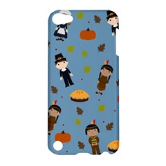 Pilgrims And Indians Pattern   Thanksgiving Apple Ipod Touch 5 Hardshell Case by Valentinaart
