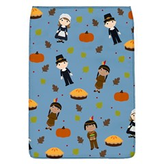 Pilgrims And Indians Pattern   Thanksgiving Flap Covers (l)  by Valentinaart