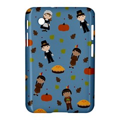 Pilgrims And Indians Pattern   Thanksgiving Samsung Galaxy Tab 2 (7 ) P3100 Hardshell Case  by Valentinaart