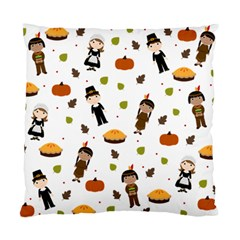 Pilgrims And Indians Pattern   Thanksgiving Standard Cushion Case (two Sides) by Valentinaart