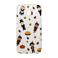 Pilgrims And Indians Pattern   Thanksgiving Galaxy S6 Edge by Valentinaart