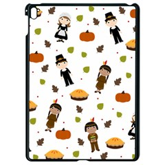 Pilgrims And Indians Pattern   Thanksgiving Apple Ipad Pro 9 7   Black Seamless Case by Valentinaart