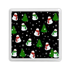Snowman Pattern Memory Card Reader (square)