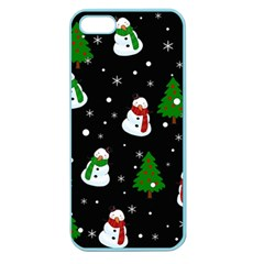 Snowman Pattern Apple Seamless Iphone 5 Case (color)