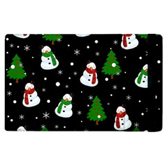 Snowman Pattern Apple Ipad 3/4 Flip Case by Valentinaart