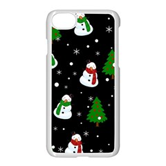 Snowman Pattern Apple Iphone 8 Seamless Case (white)