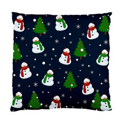 Snowman Pattern Standard Cushion Case (two Sides) by Valentinaart