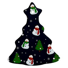 Snowman Pattern Ornament (christmas Tree)  by Valentinaart