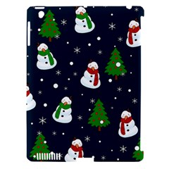 Snowman Pattern Apple Ipad 3/4 Hardshell Case (compatible With Smart Cover)