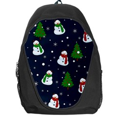 Snowman Pattern Backpack Bag