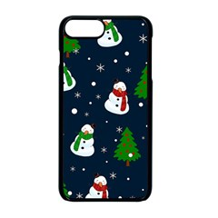 Snowman Pattern Apple Iphone 8 Plus Seamless Case (black) by Valentinaart