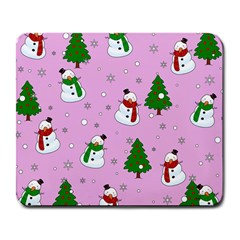 Snowman Pattern Large Mousepads by Valentinaart