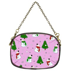 Snowman Pattern Chain Purses (two Sides)  by Valentinaart
