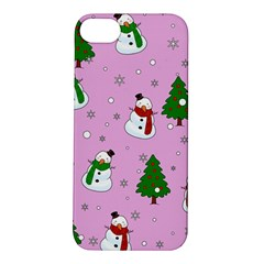 Snowman Pattern Apple Iphone 5s/ Se Hardshell Case