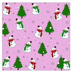 Snowman Pattern Large Satin Scarf (square) by Valentinaart