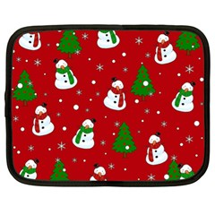 Snowman Pattern Netbook Case (xl)