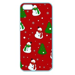 Snowman Pattern Apple Seamless Iphone 5 Case (color) by Valentinaart