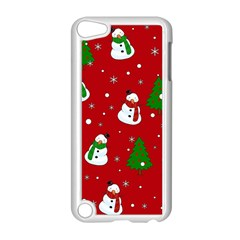 Snowman Pattern Apple Ipod Touch 5 Case (white) by Valentinaart