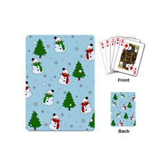 Snowman Pattern Playing Cards (mini)