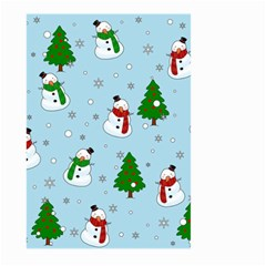 Snowman Pattern Large Garden Flag (two Sides) by Valentinaart
